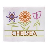 Chelsea with cute flowers Throw Blanket