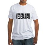 Vegetarian Fitted T-Shirt
