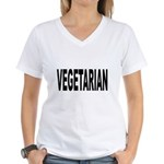 Vegetarian Women's V-Neck T-Shirt