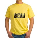 Vegetarian Yellow T-Shirt