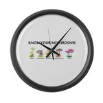 Know Your Mushrooms Large Wall Clock
