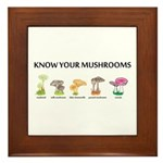 Know Your Mushrooms Framed Tile