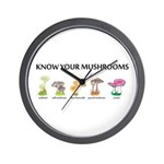 Know Your Mushrooms Wall Clock