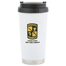 SSI - US Army Cadet Command with Text Ceramic Trav