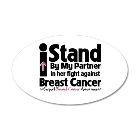 I Stand Partner Breast Cancer 38.5 x 24.5 Oval Wal