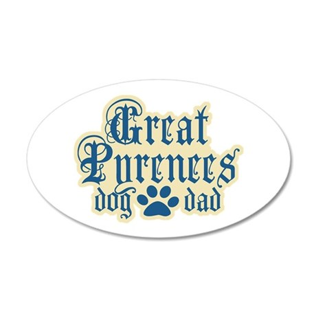 Great Pyrenees 22x14 Oval Wall Peel
