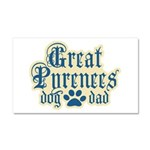 Great Pyrenees Car Magnet 20 x 12