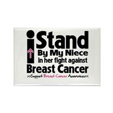 I Stand Niece Breast Cancer Rectangle Magnet (100