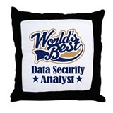 Data Security Analyst Gift Throw Pillow