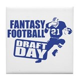 Fantasy Football Draft Tile Coaster