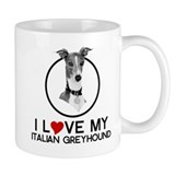 I love My Italian Greyhound Small Mug