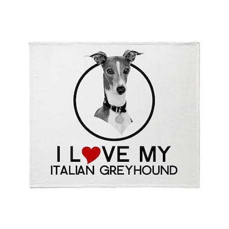 I love My Italian Greyhound Throw Blanket