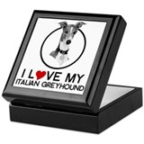 I love My Italian Greyhound Keepsake Box