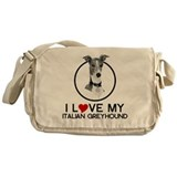 I love My Italian Greyhound Messenger Bag