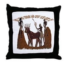 Egyptian Harvest Throw Pillow