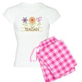 Teagan with cute flowers pajamas