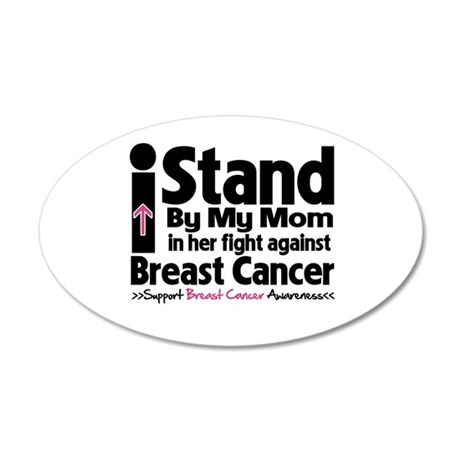 I Stand Mom Breast Cancer 38.5 x 24.5 Oval Wall Pe