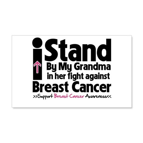 I Stand Grandma Breast Cancer 22x14 Wall Peel