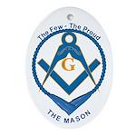 Masonic Proud Mason Oval Ornament