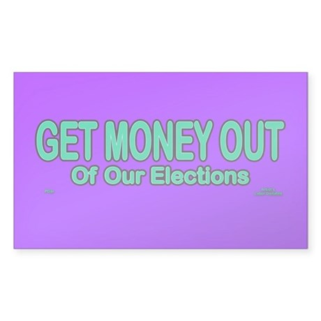 Get Money Out Sticker (Rectangle)