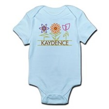 Kaydence with cute flowers Infant Bodysuit