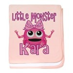 Little Monster Kara baby blanket