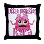 Little Monster Kara Throw Pillow