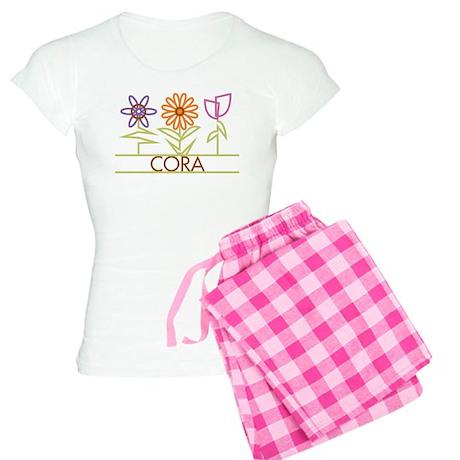 Cora with cute flowers Women's Light Pajamas