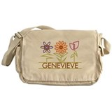 Genevieve with cute flowers Messenger Bag