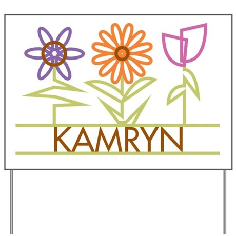 Kamryn with cute flowers Yard Sign