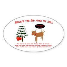 Cute Christmas pit bull Decal