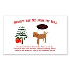 Unique Christmas pit bull Decal