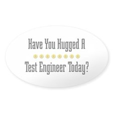 Hugged Test Oval Decal