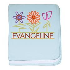 Evangeline with cute flowers baby blanket