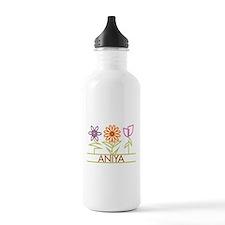 Aniya with cute flowers Water Bottle