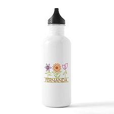 Fernanda with cute flowers Water Bottle