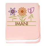 Imani with cute flowers baby blanket
