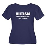 Autism vs my cousin Women's Plus Size Scoop Neck D