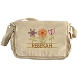 Rebekah with cute flowers Messenger Bag