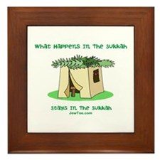 Sukkah Happenings Framed Tile