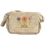 Talia with cute flowers Messenger Bag