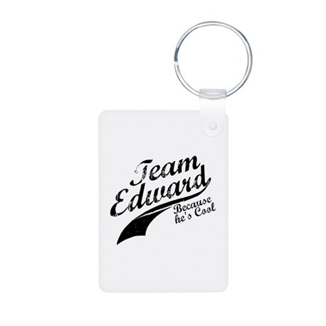 Team Edward Aluminum Photo Keychain