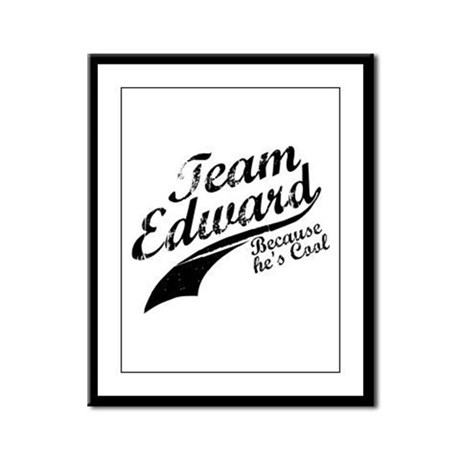 Team Edward Framed Panel Print
