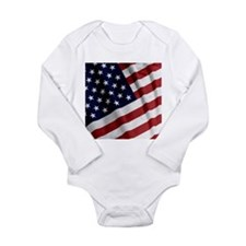 America Long Sleeve Infant Bodysuit