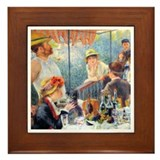 Renoir - Boating Party Framed Tile