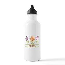 Kiera with cute flowers Water Bottle