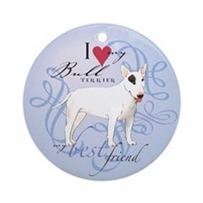 Bull Terrier Ornament (Round)