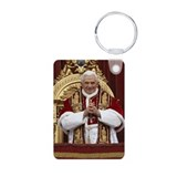Pope Benedict XVI Aluminum Photo Keychain