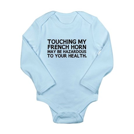 French Horn Hazard Long Sleeve Infant Bodysuit