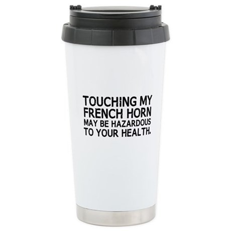French Horn Hazard Ceramic Travel Mug